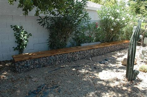 gabion bench gabion bench backyard landscaping hardscape