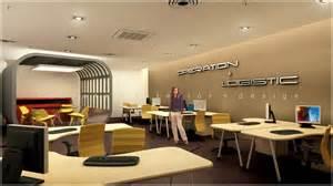 3d open office design with feature meeting area kuala