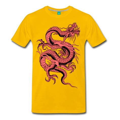design t shirts in china red chinese dragon hd pixel design t shirt spreadshirt