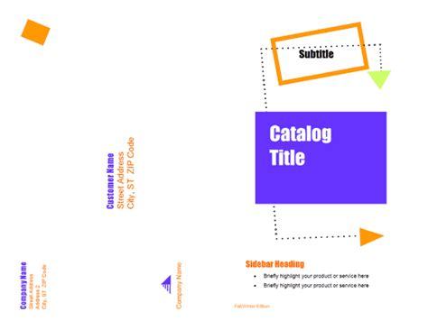 Microsoft Catalog Template product catalogue template ifygett
