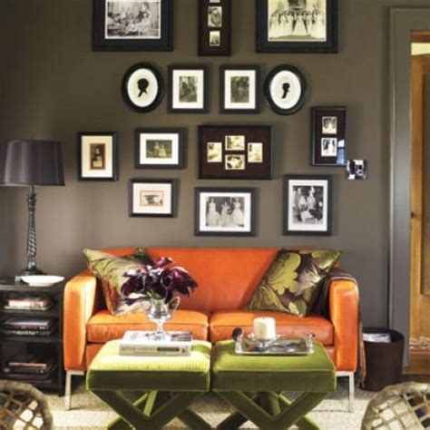 brown green and orange living room green brown living room with orange orange room orange