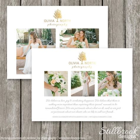 marketing card template wedding photography promo card