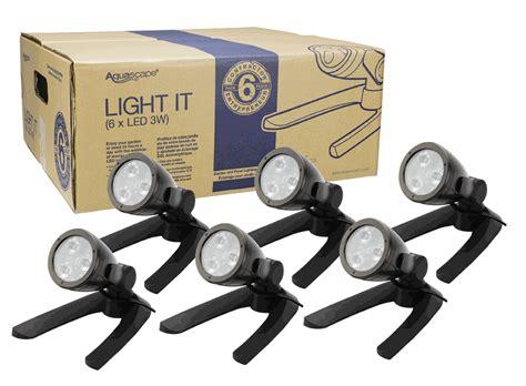 Led Aquascape 12 Watt aquascape contractor light 6 pack 3 watt 12 volt led bullet spotlight architectural bronze