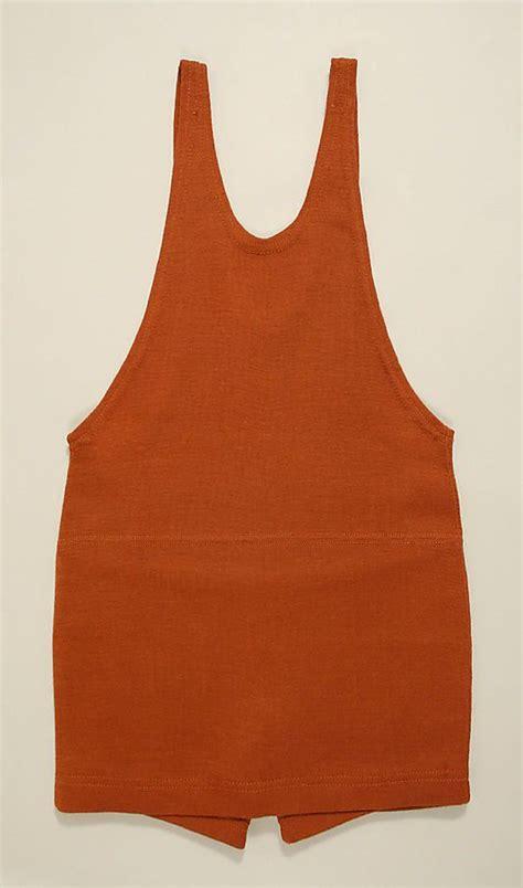 1925 1930 orange wool men bathing suit