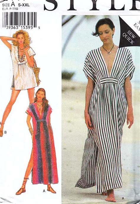 pattern kaftan dress style caftan robe beachwear pattern 2441 uncut my mom