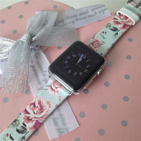 Printed Leather Band For Apple 38mm Flower Rural apple band 38mm apple band 42mm handmade