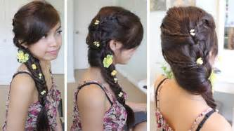 how to do fancy hairstyles for fancy fishtail braid hairstyle for medium long hair