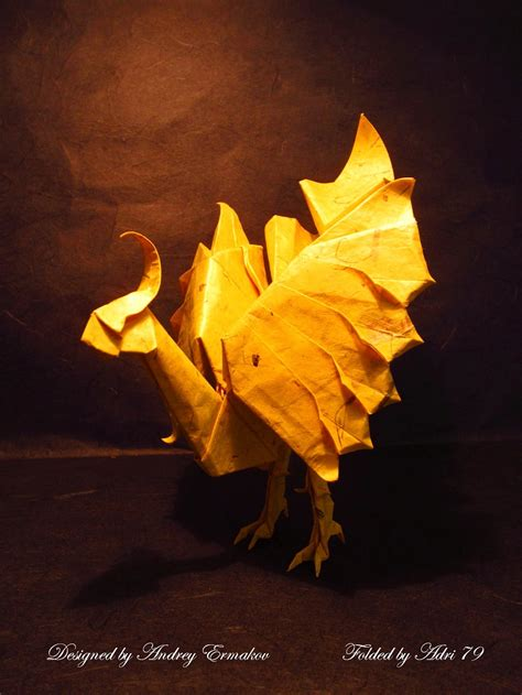 origami chocobo the world of videogame origami part 1