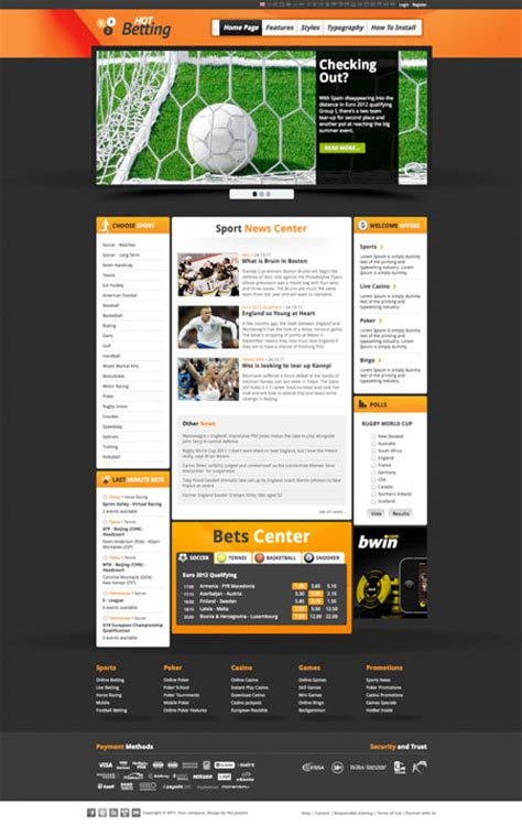 joomla sports template betting sport and hotthemes