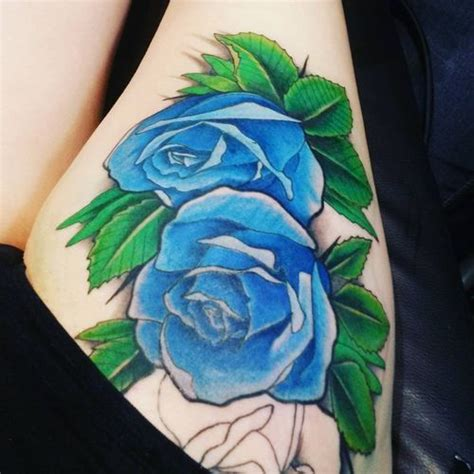 green rose tattoo 40 thigh design ideas
