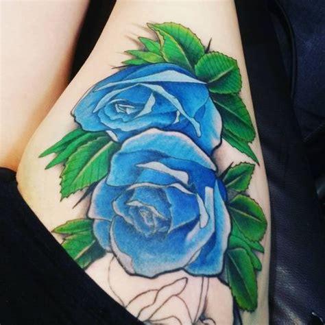 green rose tattoos 40 thigh design ideas