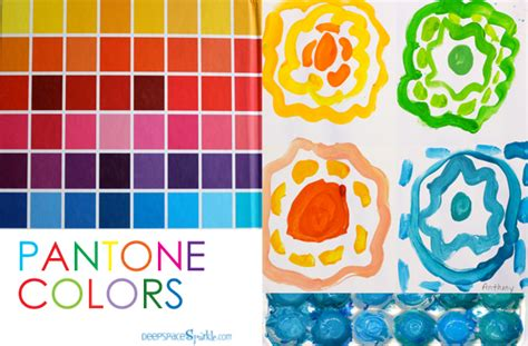 pantone colors lesson space sparkle