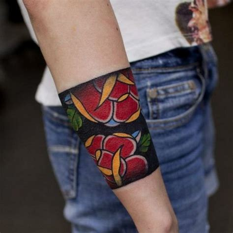 tattoo flower band 21 forearm band tattoos