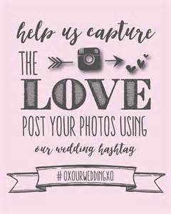Wedding Sign Templates by Instagram Wedding Sign Wedding Hashtag Poster
