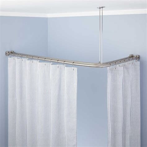 u shaped shower curtain rods u shaped shower curtain rod the decoras jchansdesigns