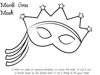 mardi gras activities  mask template