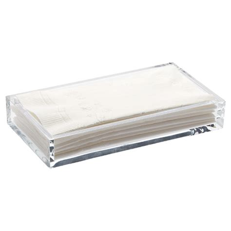 bathroom napkin tray acrylic guest towel tray the container store