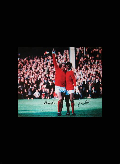 george best signed photo george best denis dual signed photo all signings