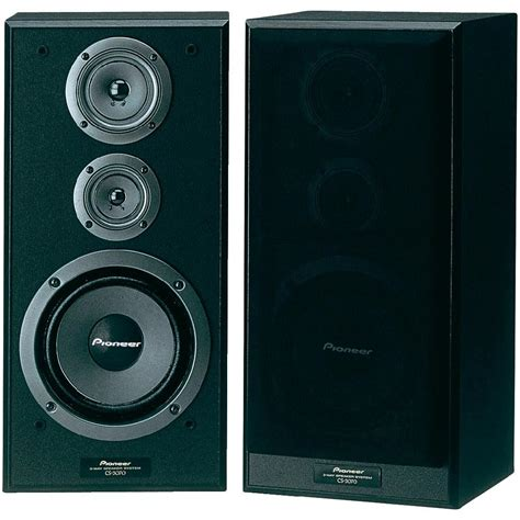 pioneer cs 3070 bookshelf speaker black 120 w 45 up to