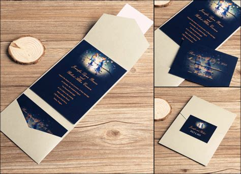 Wedding Invitation Card Envelope Design by 10 Cool And Stylish Navy Blue Wedding Invitations