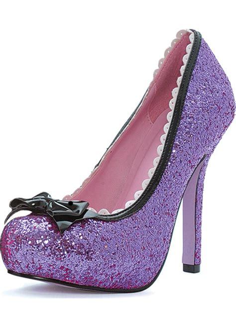 princess shoes for leg avenue purple glitter princess shoes