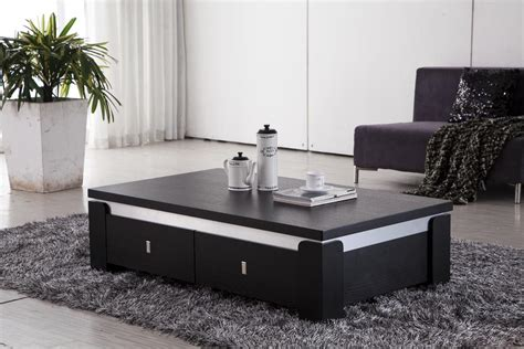 Contemporary Coffee Tables Completing Living Room Interior Black Living Room Tables