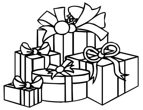coloring pages of a christmas present christmas present coloring pages printable