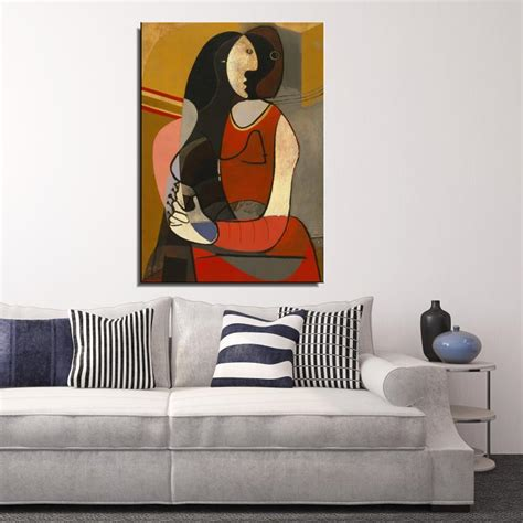 nude woman in red armchair nude woman in a red armchair picasso nude woman with necklace