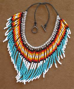 How To Make Native American Jewelry - native american style fringed turquoise and silver seed bead