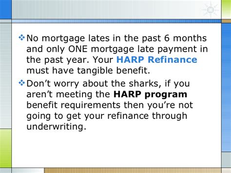 Mortgagee Letter Net Tangible Benefit Harp Refinance Home Affordable Program Faq