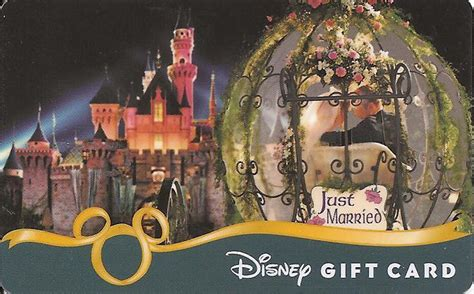 Downtown Disney Gift Card - just married