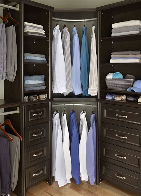 Corner Closet Systems by Home Depot Closet Shelving With Awesome Brown Color