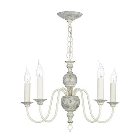 gray chandelier artisan lighting flemish distressed powder grey 5 light