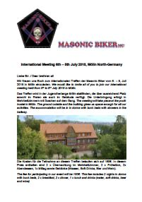 Motorradtreffen Schweiz 2018 by Masonic Biker Fahren In Der Bruderkette Www Masonic