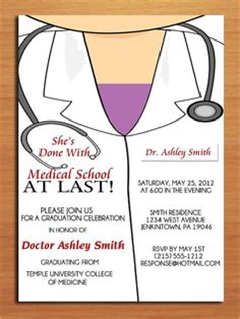 Lab Coat Card Template by Graduation Invitation On