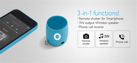 Mini One Wireless Bluetooth Speaker With Tomsis Shutter Hitam bluetooth selfie mini speaker 3 in 1 functions remote