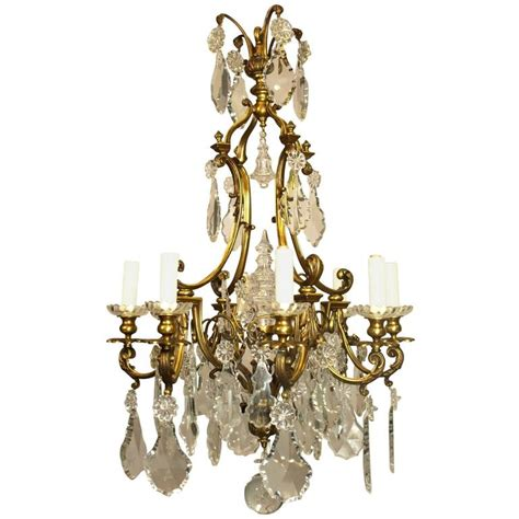 Antique Chandelier Crystals For Sale Antique Chandelier Gilt Bronze And For Sale At 1stdibs