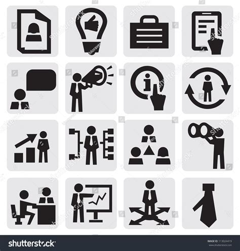 office and business vector icons set on gray royalty free stock images image 33973149 vector black business icon set on gray 113024419