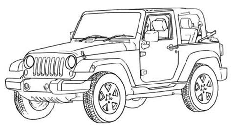 jeep rubicon coloring pages jeep wrangler off road coloring page off road car car