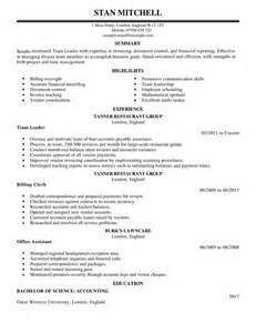Technical Support Team Leader Sle Resume by Team Lead Cv Exle For Management Livecareer