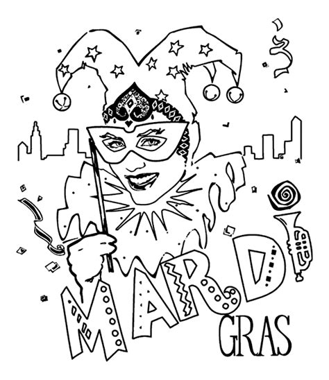 celebrate mardi gras with a free coloring page angry mardi gras jester crayola co uk