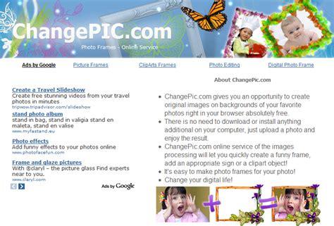 programma per mettere cornici alle foto changepic aggiungere cornici frasi e clipart alle foto
