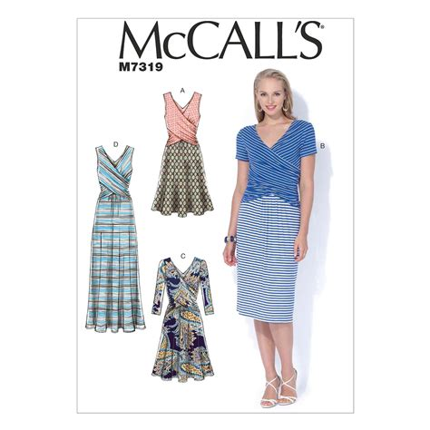 mccall s mccall s sewing pattern misses dresses m7319 14 22 abakhan