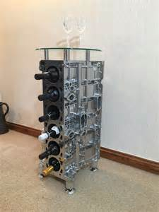 jaguar straight xj6 engine block wine rack corner or coffee table please call for availability