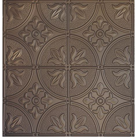 Metal Ceiling Tiles Home Depot by Global Specialty Products Dimensions 2 Ft X 2 Ft Bronze