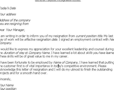 how to write a resignation letter how to write a