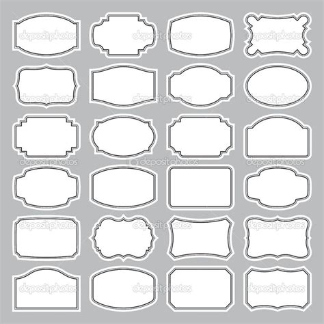 24 label template free canning labels images 24 blank labels set vector