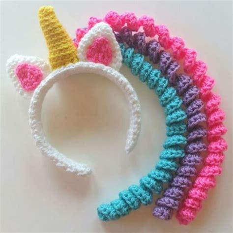 unicorn mane headband  crochet pattern  crochet