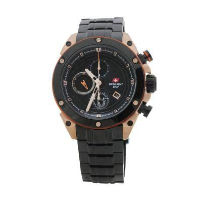 Jam Tangan Pria Swiss Army Coklat Kulit List Putih Cd As 2696 harga swiss army sa 2016m gold coklat jam tangan pria