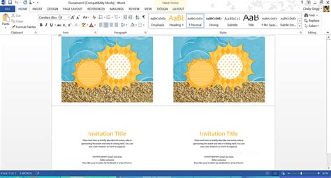 birthday card template publisher 2013 free summer themed templates from microsoft